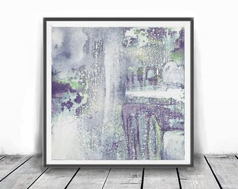 Print, contemporary art, wall art abstract, digital image, abstract , purple  and mind ,modern abstract, scandinavian art, pastel abstract