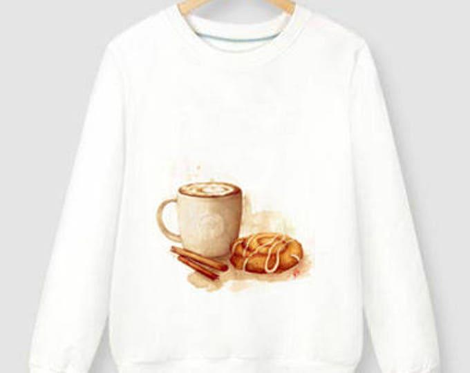 UNISEX hand-painted sweatshirts Starbucks