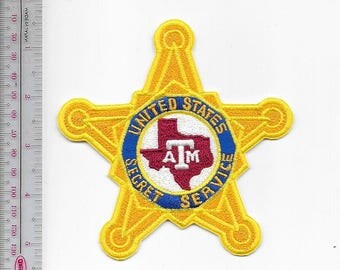 Secret Service USSS Texas Texas A & M University Agent Service Star Patch