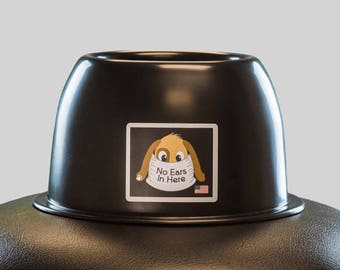 No Ears In Here Long Eared Dog Bowl