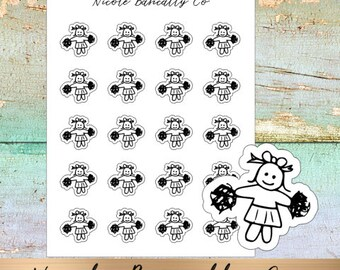Cutie Pies- Cheerleading Planner Stickers