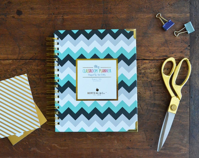 NEW Chevron Teacher Planner