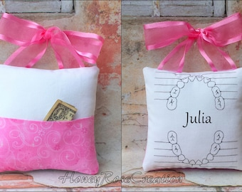 Tooth fairy pillow.Embroidered chart.