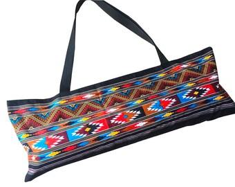 Handmade Thai Boho Tribal Yoga Mat Tote,Pilates Zipper Bag Yoga Mat Bag