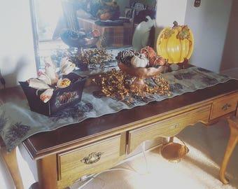 Handmade Pine Cone Table Runner