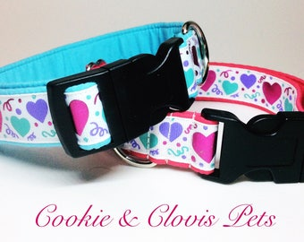 His & Hers Valentine's Day Dog Collars