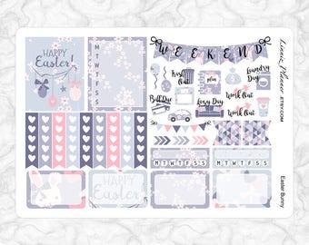Easter Bunny Mini Kit   Stickers for your Erin Condren, Happy Planner, Kikki K, Filofax and more