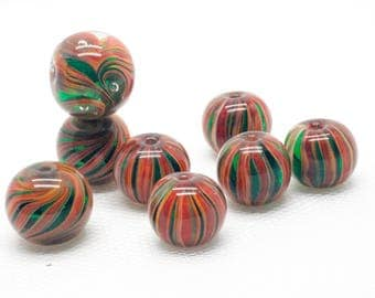 Lampwork Glass Beads - Glass Necklace - Lampwork Focal Bead - Lampwork Beads - Glass Jewelry - Artisan Glass Beads - Glass Pendant - OOAK