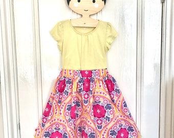 Girls pink skirt, girls skirt, girls party skirt, girls everyday skirt, toddler skirt, girls cotton skirt, girls full skirt, skirt