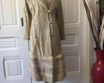 Vintage blonde mink and sheep skin