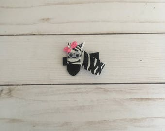 Zebra Hair Clip Hair Bow