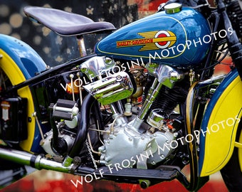 Digital Download Harley Davidson 1936 EL Knucklehead CLOSE UP, Gifts for Him, Classic Motorcycles, Motorcycles, Wall Art, Motorcycle prints