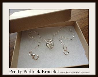 Pretty Padlock Bracelet