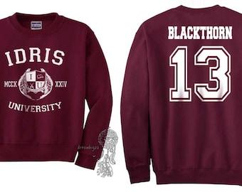 Blackthorn 13 Idris University Crew neck Sweatshirt Maroon