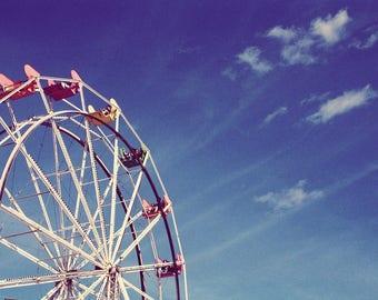 Ferris Wheel - Stock Photography, Digital Download, Photograph, Nature