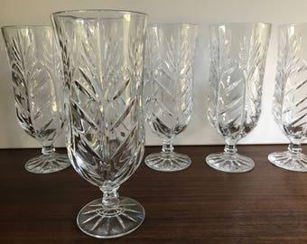 Cut Glass Goblets - Set of 6