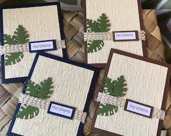 Ho'oheno (Cherish) Hawaiian Blank Greeting Card