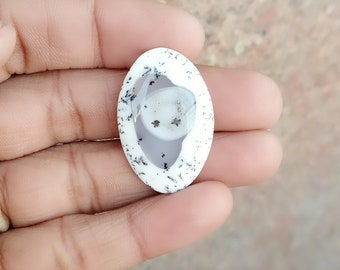 Warm sell 21.5ct Dendritic Agate Natural Gemstone Super Quality AAA+++  Cabochon , Smooth, Oval Shape, 32x21x4mm Size, AM249