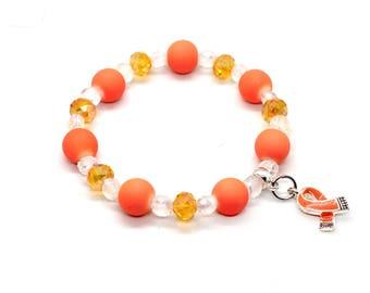 Leukemia Survivor Gift - Leukemia Bracelets - Leukemia Jewelry - Leukemia Awarenss - Leukemia Awareness Gift - Leukemia Jewelry - Leukemia