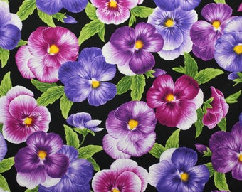Viola by Chong-A Hwang for Timeless Treasures.  This is a fabric with violets sold by the yard.