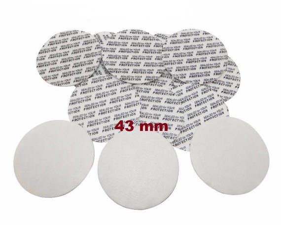 43mm Pressure Sensitive PS Foam Cap Liners Seal Tamper Seal Sealed for your Protection US Seller