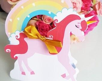 Unicorn-arc-en-ciel-small decorative box - candy bar