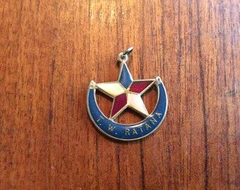 Vintage enamelled New Zealand Ratana church pendant.