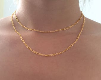 Double figaro choker necklace