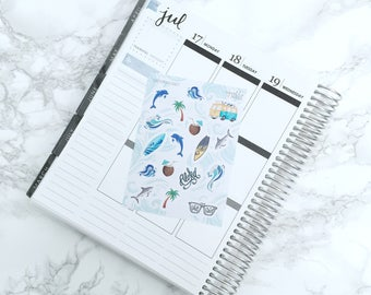 Surf's Up Decorative Planner Stickers