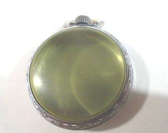 Vintage Pocket Watch Case  S.W.C. Co Starwhite  49mm 14mm Deep with Crown