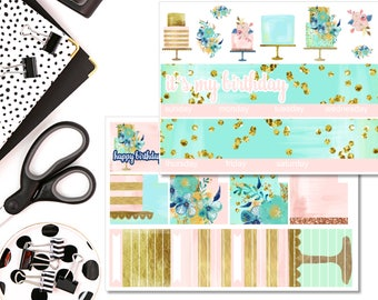 Birthday Monthly Kit!! Perfect For The Erin Condren Life Planner!