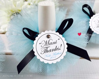 10 Breakfast at Tiffany's Favors|Baby Shower Favors|Baby Shower Favors Boy|Bridal Shower Favors|Nail Polish Favors|Nail Polish Tutus|Favors