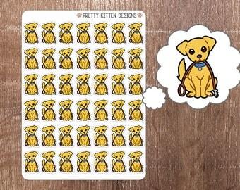 Dog Walk Planner Stickers   42 Stickers   Matte Removable   Erin Condren, Kikki K, Plum Paper Planner