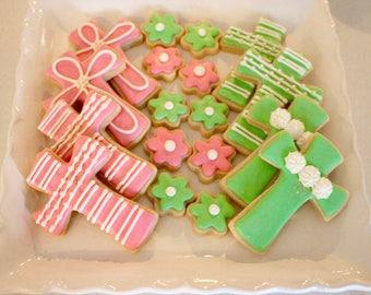 Cross Cookies - Religious Cookies - First Communion Cookies - 1 Dozen!