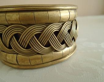 brass bangle woven detail