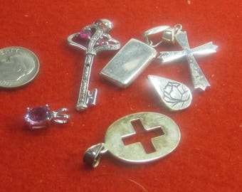 P-27  Vintage Pendants  sterling silver 925