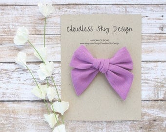 hair bows, purple bow, girls hair bow, school hair bow, hair bow for girls, baby hair bow, fall bow, purple bow clip, tied bow