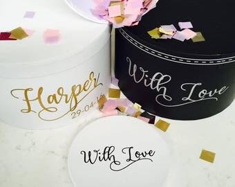 Personalised WEDDING / ENGAGEMENT Gift Box