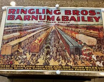 Original 1919 Barnum and Bailey Circus Poster
