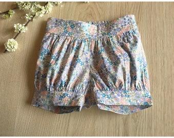 Pastel Floral Pixie Shorts