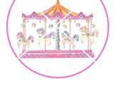 Custom Listing ~ Printable Carousel Horses Merry Go Round ~ DIY Instant Download ~ 1 8.5 x 11