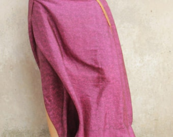 afghan silk skirt dark pink