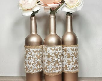Wine Bottle Decor Bottles Decorated Vase Wedding