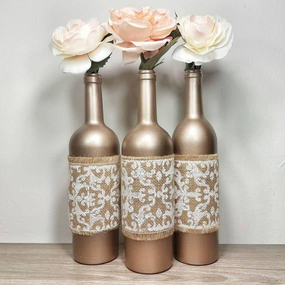 Très Bouteille de vin Decor Vase bouteille décorée le vin en KL56