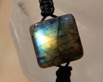 shamballa bracelet with labradorite square bead