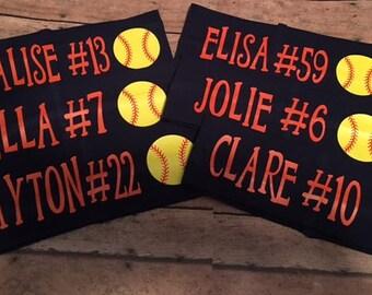 "Softball 2 1/2"" Personalized Name/Team Name Sports Headband"