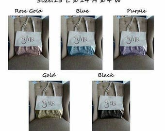 Personalized Glitter Tote Bag - Limited time offer
