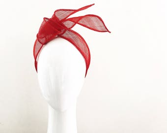 CELESTE   red turban /  headband : races, sowcusl events