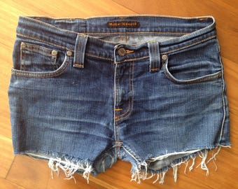 NUDIE denim jean cut off shorts Size 31