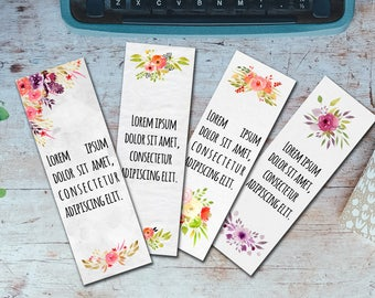 Editable Bookmarks Template, Word Bookmarks Template, Editable Bookmarks, Printable Bookmarks, Word Template, DIY Bookmarks Template